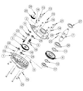 Pièces détachées Réducteur Bétonnière électrique IMER tractable S190 Electrique