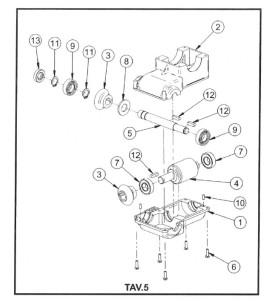 Pièces détachées réducteur de basculement bétonnière électrique S140 / S160