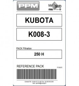 PACK FILTRATION  K008-3 KUBOTA 250H
