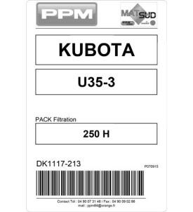 PACK FILTRATION  U35-3 KUBOTA 250H