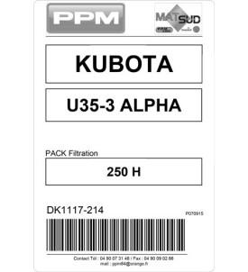 PACK FILTRATION  U35-3@ KUBOTA 250H
