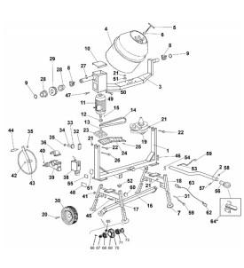 Pièces détachées bétonnière imer s350 électrique tractable