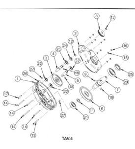 Pièces détachées réducteur bétonnière électrique S140 / S160