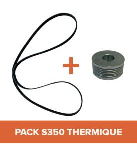 PACK - Courroie + Poulie pour bétonnière IMER S350 Thermique Tractable