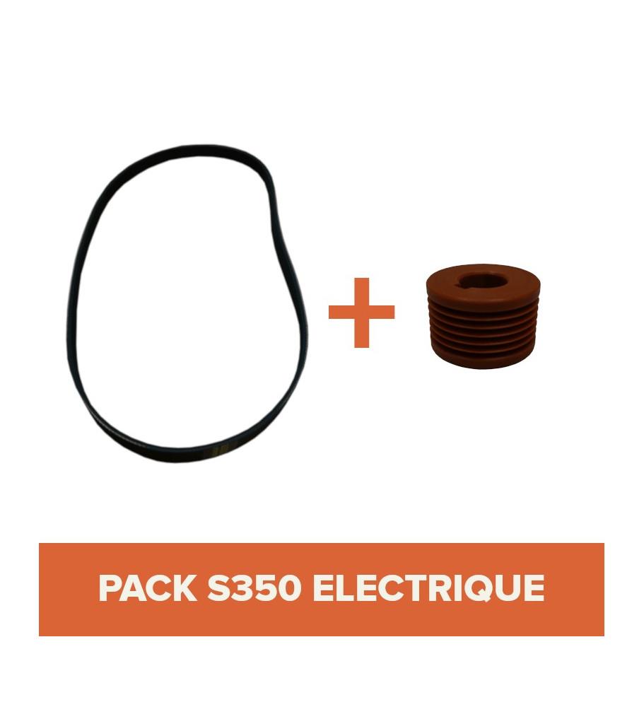 PACK - Courroie + Poulie pour bétonnière IMER S350 Électrique Tractable