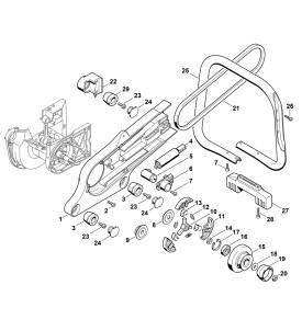 Pièces détachées pour carter et embrayage de découpeuse à disque STIHL TS 400