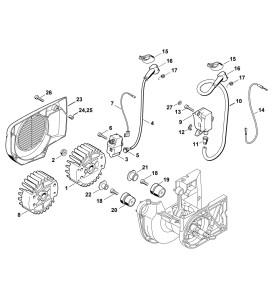 Pièces détachées pour dispositif d'allumage de découpeuse à disque STIHL TS 400