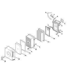 Pièces détachées pour filtre à air de découpeuse à disque STIHL TS 400