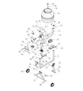 Pièces détachées bétonnière IMER S140 électrique tractable