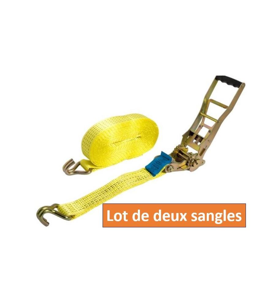 LOT DE DEUX SANGLES A CROCHET 10M