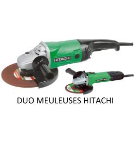 Disqueuses hitachi duo meuleuses G2313S2S, Ø230 et 125mm, 2000 et 580W