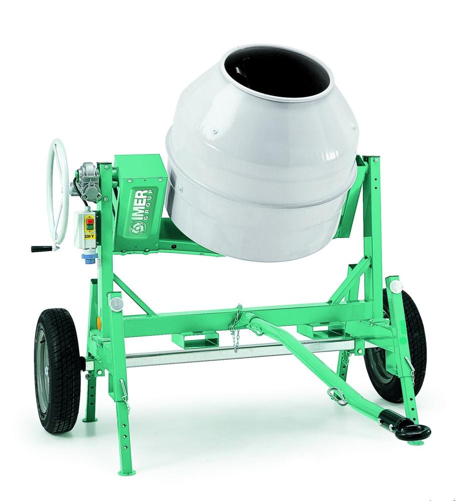 Bétonnière électrique syntesi S250R, 235 litres tractable IMER