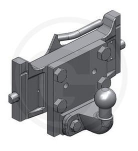Crochet d'attelage à attache coulissante Système K50