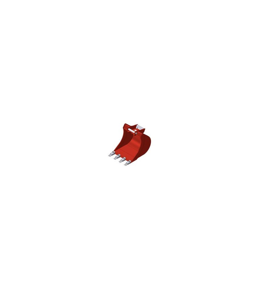 GODET mini pelle 1.2 à 1.8 Tonnes TYPE AR15 300mm Dent boulonnées M12.4