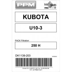 PACK FILTRATION  U10-3 KUBOTA 250H