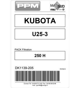PACK FILTRATION  U25-3 KUBOTA 250H
