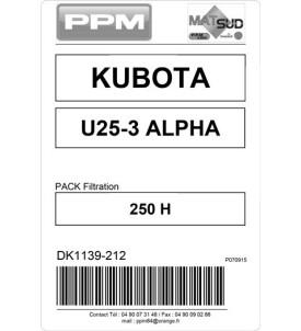 PACK FILTRATION  U25-3@ KUBOTA 250H