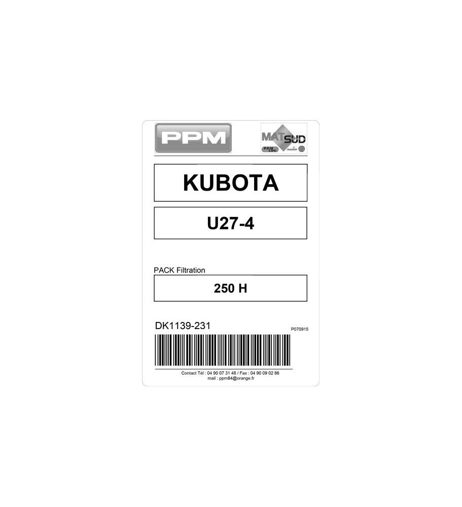 PACK FILTRATION  U27-4 KUBOTA 250H