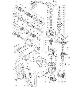 Pièces détachées HITACHI DH45MR , 45 mm SDS MAX 1200 W- 15.5 Joules - 8 kg HITACHI