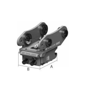 Attache rapide réversible type CRTL Mécanique TWIN LOCK