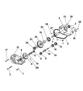 Pièces détachées Réducteur Bétonnière électrique IMER tractable S350R 2010 à 2014
