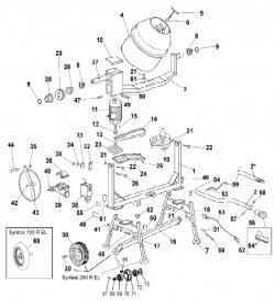 Pièces détachées bétonnière IMER S190 électrique tractable